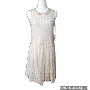 Free People Ivory of Lace   Dress Women's Size M